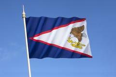 amerikanska flaggan samoa Royaltyfria Foton