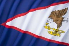 amerikanska flaggan samoa Fotografering för Bildbyråer