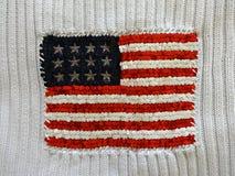 Amerikanska flaggan som broderas med paljetter arkivbilder