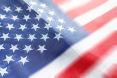 Amerikanska flaggan som var nära med zoomen, brast upp högkvalitativt Arkivfoton