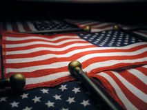 amerikanska flaggan tände upp Royaltyfria Foton
