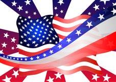 amerikanska flaggan tema för band för berömfjärde juli stjärnor Arkivbild