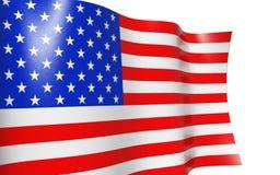 amerikanska flaggan USA vektor illustrationer