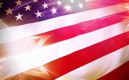 amerikanska flaggan USA royaltyfri foto