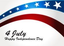 Amerikanska flaggan vektorbakgrund för självständighet  Arkivfoto