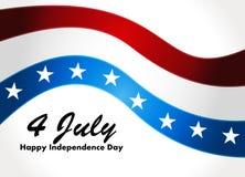 Amerikanska flaggan vektorbakgrund för självständighet  Fotografering för Bildbyråer