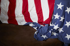 Amerikanska flagganbakgrund Arkivbilder