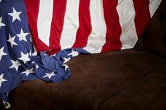 Amerikanska flagganbakgrund Arkivfoto