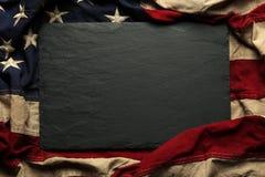 Amerikanska flagganbakgrund för Memorial Day eller 4th av Juli Arkivfoto
