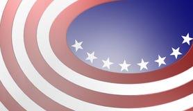 Amerikanska flagganbakgrund, illustration Arkivfoto
