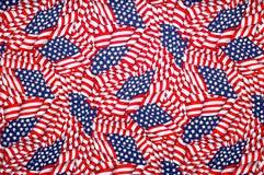 Amerikanska flagganbakgrund, stjärnor och band Royaltyfri Bild