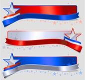 Amerikanska flagganbaner Arkivfoto