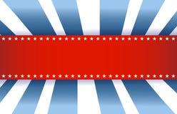 Amerikanska flaggandesign, röd vit och blått Fotografering för Bildbyråer