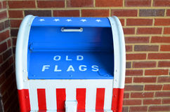 Amerikanska flagganförvaringsrumslut upp arkivbild