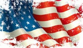 amerikanska flaggangrunge stock illustrationer