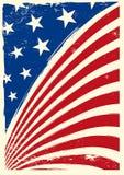 amerikanska flaggangrunge Fotografering för Bildbyråer