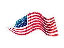 amerikanska flagganillustration stock illustrationer