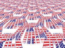 amerikanska flagganperspektiv Stock Illustrationer