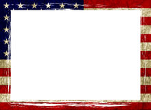amerikanska flagganram Royaltyfri Foto