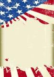 Amerikanska flagganram Arkivbild