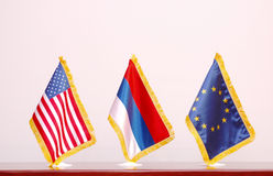 amerikanska flagganryss Royaltyfri Bild