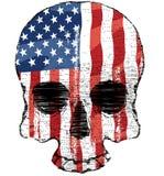 Amerikanska flagganskalle Royaltyfri Foto