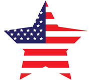 amerikanska flagganstjärna royaltyfria foton