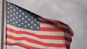 Amerikanska flagganultrarapid stock video
