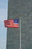 amerikanska flagganvåg royaltyfria bilder