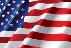 amerikanska flagganvektor Arkivfoto