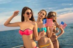 amerikanska flickor Arkivfoton