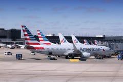 amerikanska flygbolag Arkivfoton