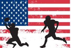 amerikanska fotbollsspelare Arkivbilder