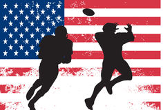 amerikanska fotbollsspelare Royaltyfri Foto