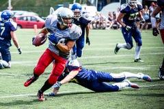 amerikanska fotbollsspelare Fotografering för Bildbyråer