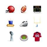 Amerikanska fotbollsymboler Arkivbild