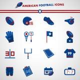 Amerikanska fotbollsymboler Royaltyfri Bild