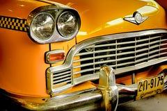 amerikanska gammala taxar Arkivbild