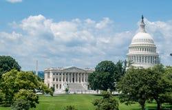 Amerikanska gränsmärken i Washington DC Arkivbild