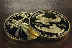 Amerikanska guld- Eagle Fotografering för Bildbyråer