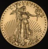 Amerikanska guld- Eagle Coin (avers) Royaltyfri Bild