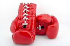 amerikanska handskar för boxningstridighetflagga isolerade vita stjärnaband Arkivfoto