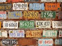Amerikanska historiska bilregistreringsskyltar Royaltyfri Bild