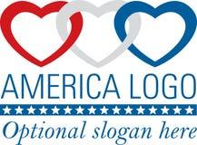 amerikanska hjärtor Fotografering för Bildbyråer