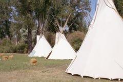 amerikanska infödda tipis Arkivbild