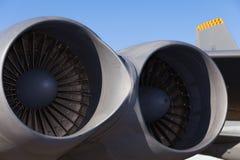 Amerikanska jetmotorer för bombplan B-52 Arkivfoto