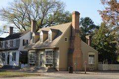 Amerikanska koloniala hus Arkivfoto