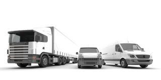 Amerikanska lastbilar Arkivbild