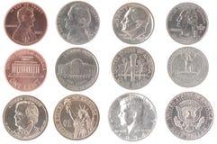 amerikanska mynt Arkivbild