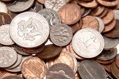 amerikanska mynt Royaltyfria Foton